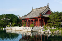 Chinese garden in Montreal. The Chinese garden, best know part of Montreal's Botanical Garden Royalty Free Stock Image