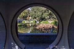 Chinese Garden Moon Gate royalty free stock images