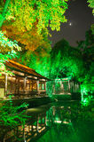 Chinese garden  at night Royalty Free Stock Images