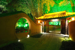 Chinese garden  at night Stock Photos
