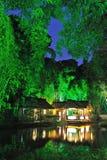 Chinese garden  at night Stock Photo