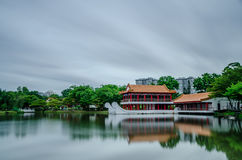 Chinese Garden. Oriental style park, Chinese Garden Royalty Free Stock Photos