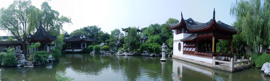 Chinese Garden Panorama Stock Photography