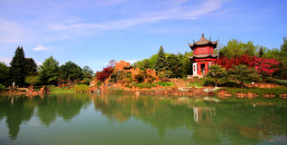 Chinese Garden Panorama Royalty Free Stock Photography