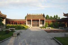 Chinese garden patio Stock Photography