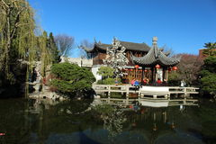 Chinese garden portland Royalty Free Stock Photo