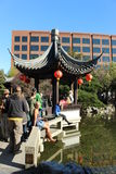 Chinese garden portland Royalty Free Stock Images