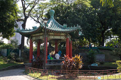 Chinese garden in Rizal park Royalty Free Stock Photography