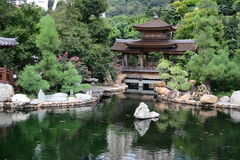 Chinese garden's pool Stock Images