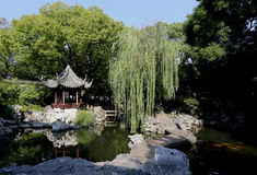 Chinese Garden Shanghai Yuyuan Stock Photo