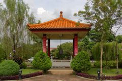Chinese garden in a temple. Chinese garden in Fo Guang Shan temple in Jenjarom, Malaysia Royalty Free Stock Photo