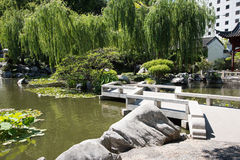 Chinese Garden Zigzag Walkway Stock Images