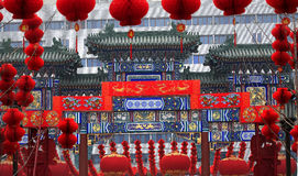 Chinese Gate Chinese Lunar New Year Decorations Stock Images