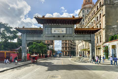 Chinese Gate - Havana, Cuba Stock Photo
