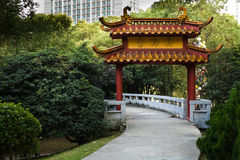 Chinese Gate in a park Royalty Free Stock Image