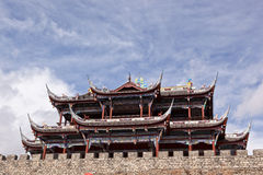 Chinese gate tower. City gate tower in Songzhou city Sichuan province,China royalty free stock image