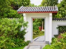 Chinese garden gate Stock Image