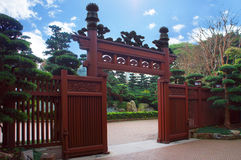 Chinese gates at Hong Kong Nan Lian Garden Royalty Free Stock Photos