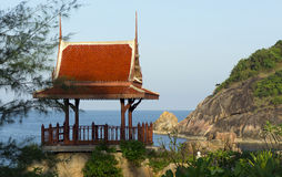 Chinese gazebo on a cliff Royalty Free Stock Photo