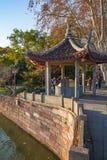 Chinese gazebo on the coast in famous West Lake, Hangzhou Stock Photo