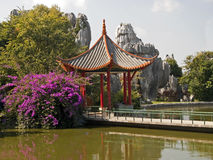 Chinese gazebo located in a beautiful garden Stock Images