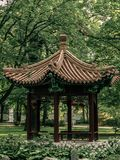 Chinese gazebo in the park royalty free stock photography