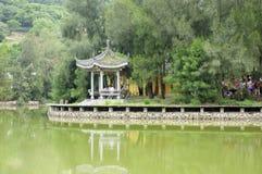 Chinese Gazebo on Putuoshan Royalty Free Stock Photography
