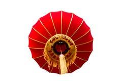 Chinese geïsoleerde lantaarn Stock Foto's