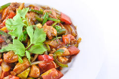 Chinese gebraden kip met zoet en zuur Royalty-vrije Stock Afbeelding