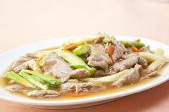 Chinese gebratenes Fleisch in der Austernsoße stockbilder