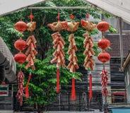 Chinese gelukkige dingen in Maannieuwjaar stock afbeeldingen