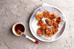 Chinese general tso`s chicken or nuggets Stock Photography