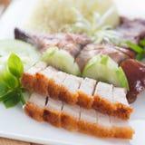 Chinese geroosterde varkensvlees of siu yuk Stock Fotografie