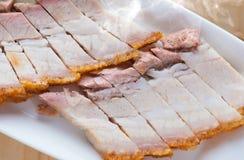 Chinese geroosterde varkensvleesbuik Stock Foto