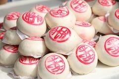 Chinese gestoomde broodjes Stock Foto's