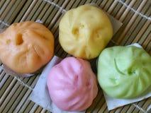 Chinese gestoomde kleurrijke broodjes Royalty-vrije Stock Afbeelding