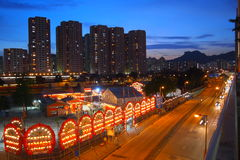 Chinese Ghost Festival Under the Lion Rock. The traditional Chinese Ghost Festival is carried out at under the Lion Rock Stock Photography