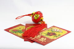 Chinese  gift envolop lantern Royalty Free Stock Photos
