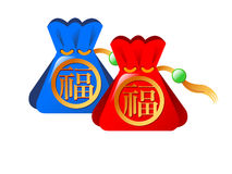 Chinese Gift Puch Bag Royalty Free Stock Images