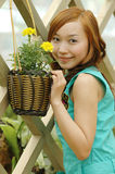 Chinese girl. Beautiful girl in the botanic gardens in china Royalty Free Stock Photography