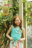 Chinese girl. Beautiful girl in the botanic gardens in china Stock Image