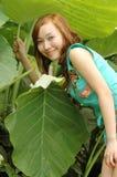 Chinese girl. Beautiful girl in the botanic gardens in china Stock Photo
