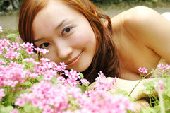 Chinese girl. Beautiful girl in the botanic gardens in china Stock Images