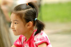 Chinese girl. The little Girl with smile Stock Photography