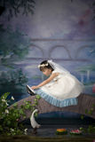 Chinese girl. Chinese little girl in the room Stock Photography