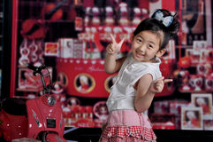 Chinese girl. A beautiful Chinese Modern girl Royalty Free Stock Photos