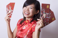 Chinese girl. Photo of chinese girl in cheong sam stock photography