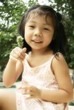 Chinese girl. A sweet  chinese  girl  in summer Stock Photo