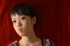 Chinese girl. Chinese and Goth royalty free stock photos