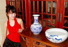 Chinese girl Stock Image